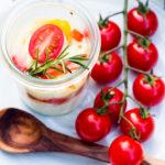 Halbzeit - ein schneller Pausensnack Halbzeitsnack Ziegenkäsecreme mit Ofengemüse