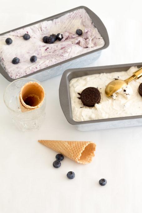 Sommer in der Waffel - Oreo- und Cheesecake Eiscreme