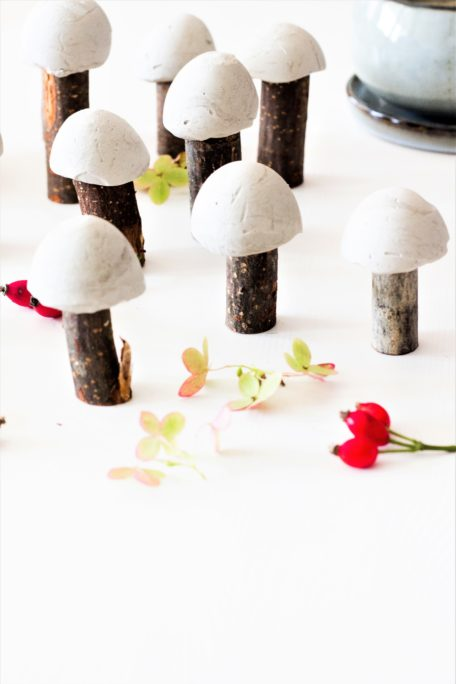Pilze aus Gips DIY Tutorial House No37