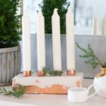 Adventskranz aus Kupfer und Gips DIY