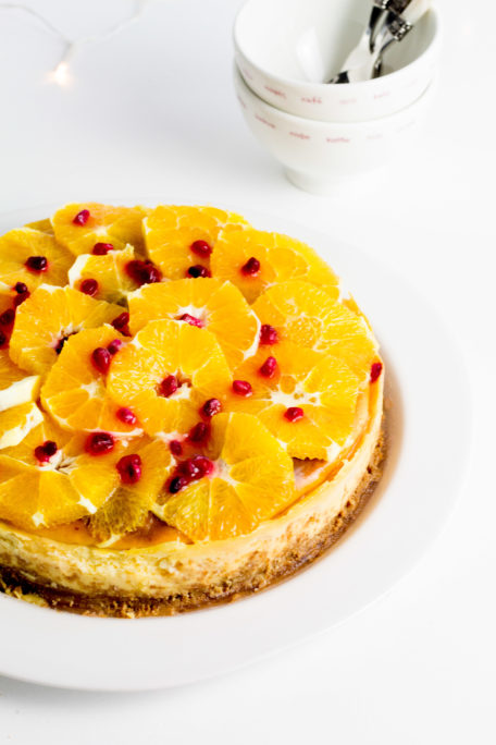 Orangen-Cheesecake gegen den Winterblues