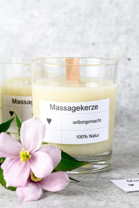 Massagekerze selber machen, ein schönes DIY zum Muttertag