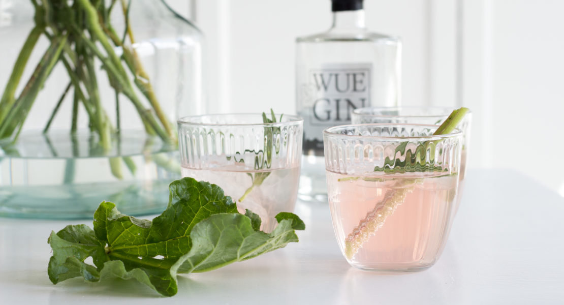 Rhabarber-Gin-Fizz Rezept Würzburg Gin