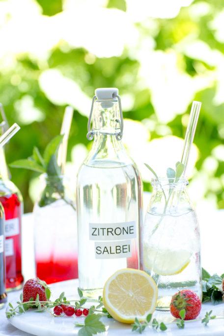 Zitronen-Salbei-Sirup