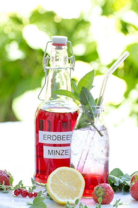 Erdbeer-Minz-Sirup
