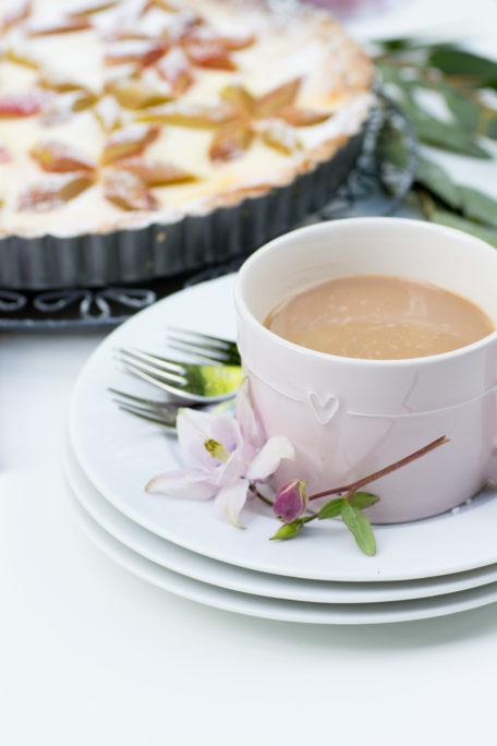 Kaffee Tasse BC Rhabarberkuchen