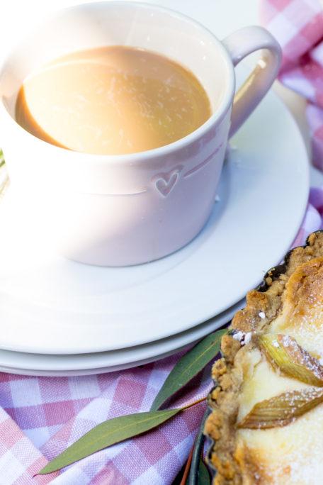 Kaffee Tasse Frühling Garten