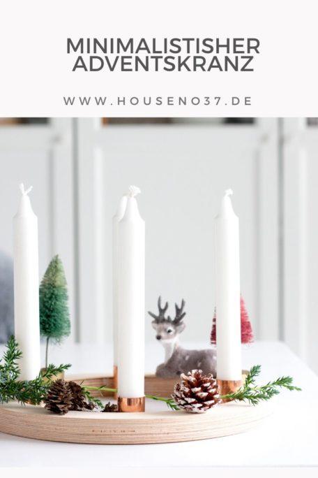 Minimalistischer Adventskranz DIY