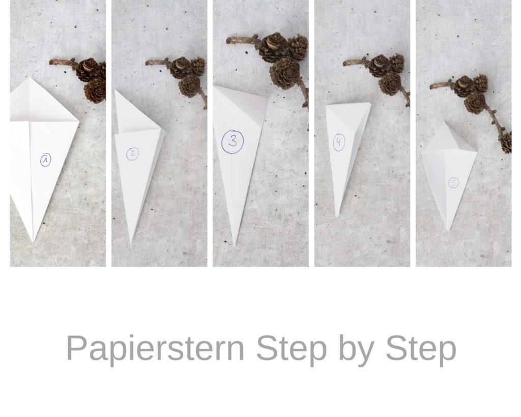 Papiersterne Faltanleitung
