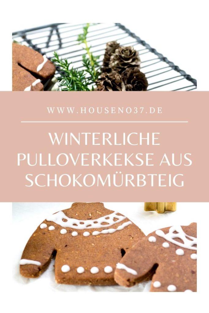 Winterliche Pulloverkekse