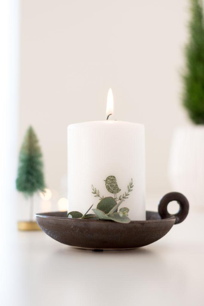 Kerzen bestempeln DIY