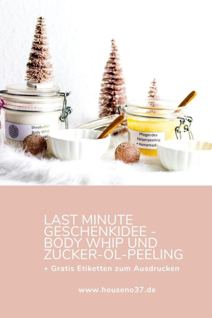 Last Minute Geschenkidee - Body Whip und Zucker-Öl-Peeling