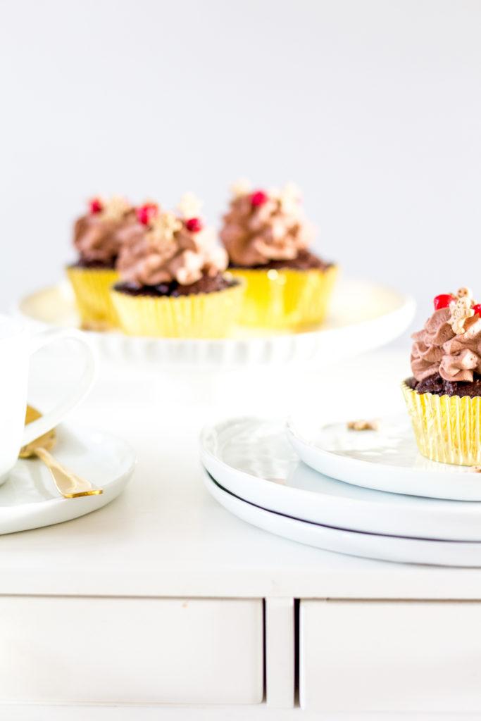 Lebkuchen Cupcake Rezept.