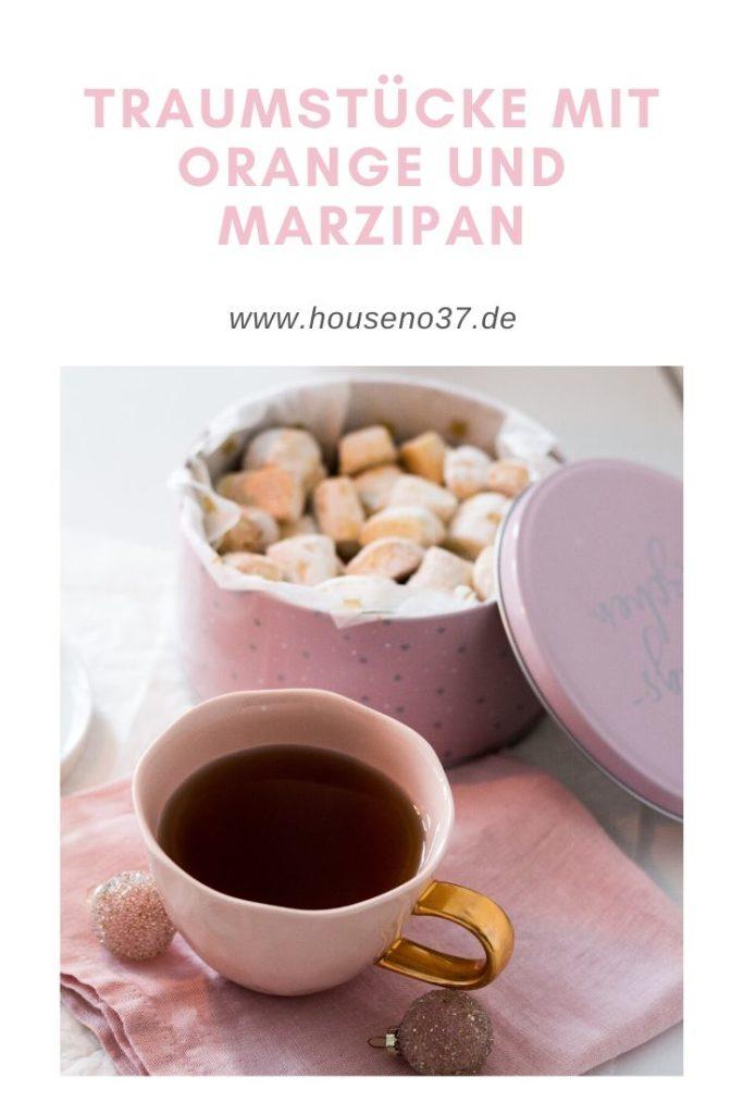 Traumstücke mit Orange und Marzipan