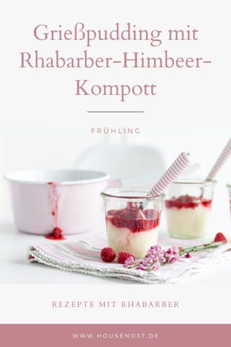 Rezept Grießpudding mit Rhabarber-Himbeere-Kompott