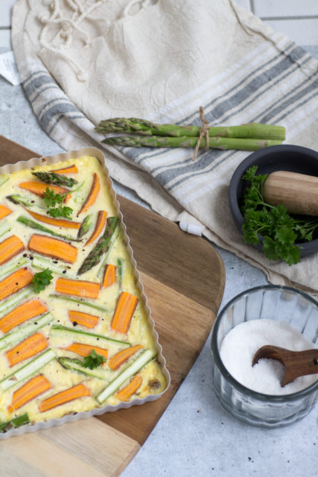 Spargel-Karotten-Tarte-