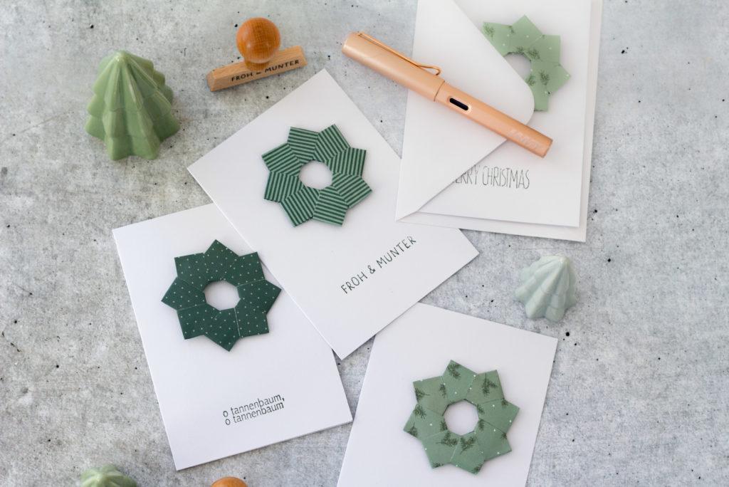 Weihnachtskarten-mit-Origamistern