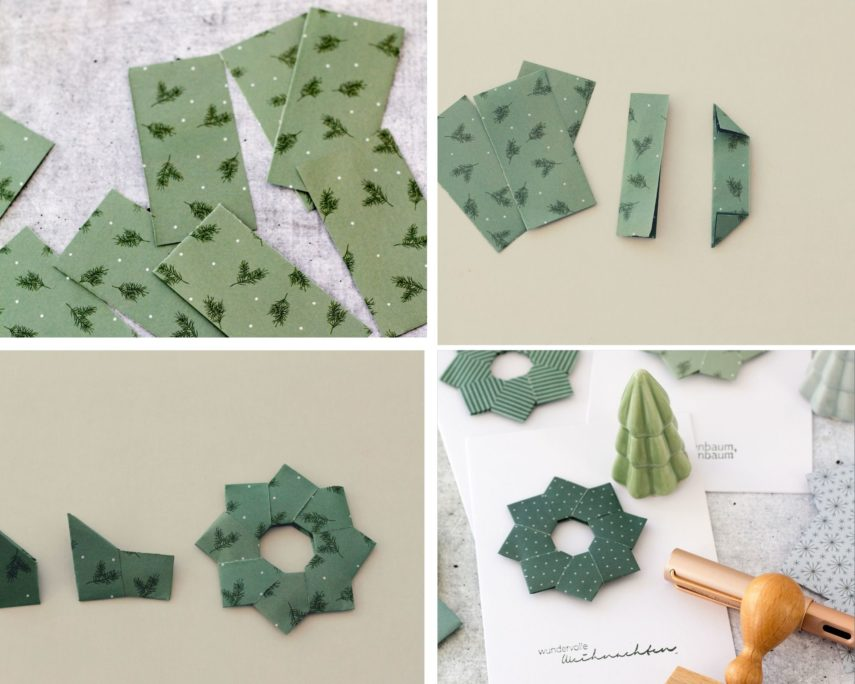 Faltanleitung Origamisterne