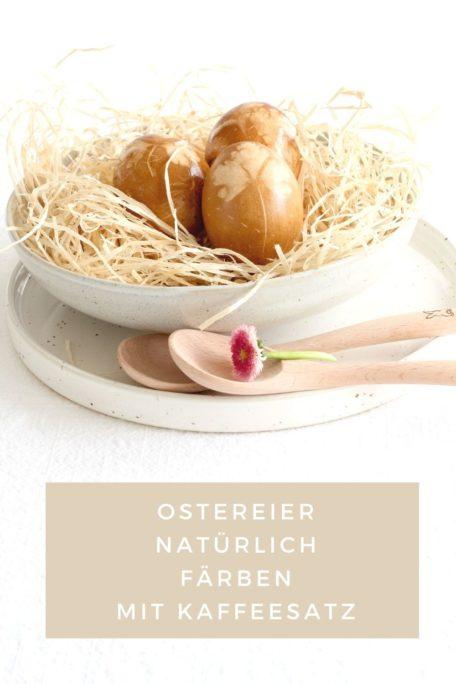 Ostereier mit Kaffeesatz färben