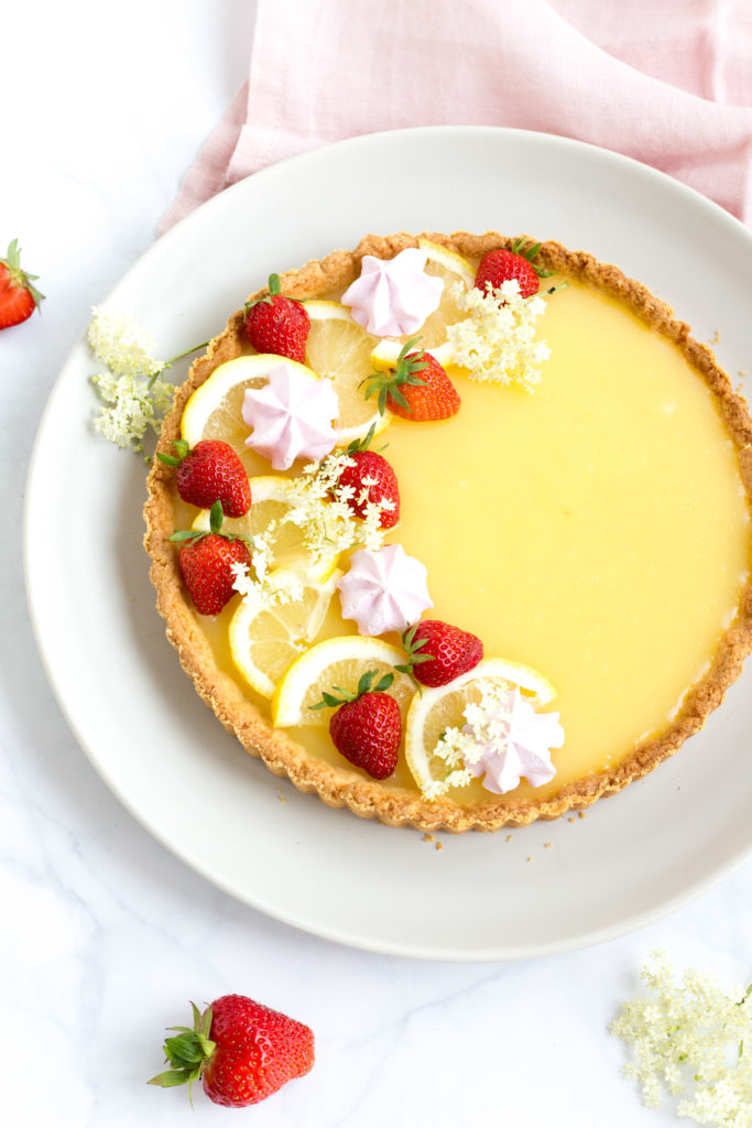 Zitronen-Holunder-Tarte