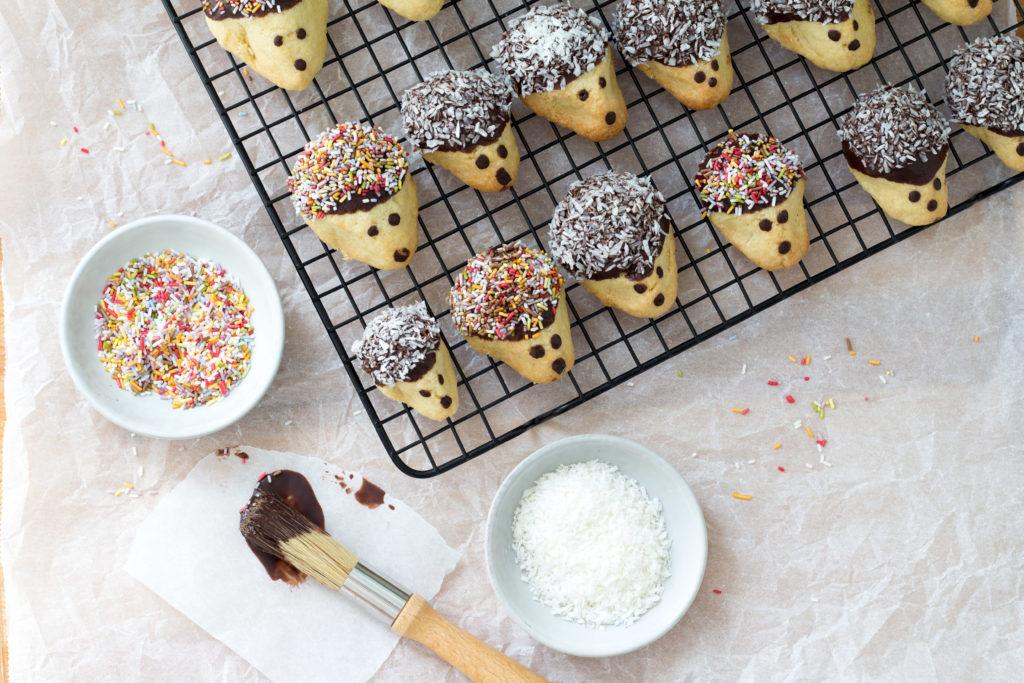Igel-Kekse-Backen